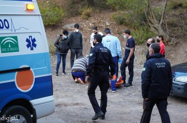 senderista accidentada en Berja